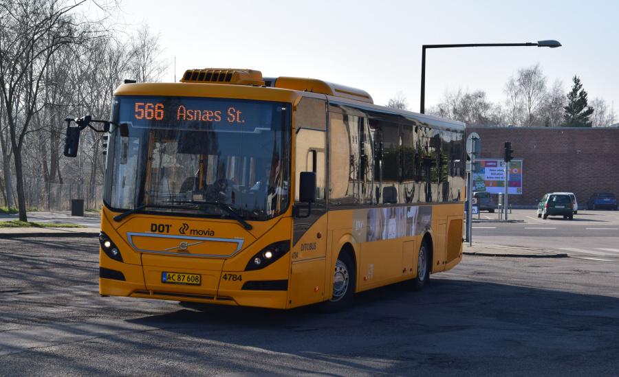 Ditobus 4784/AC87608 på Nykøbing Sj. Station den 27. februar 2019