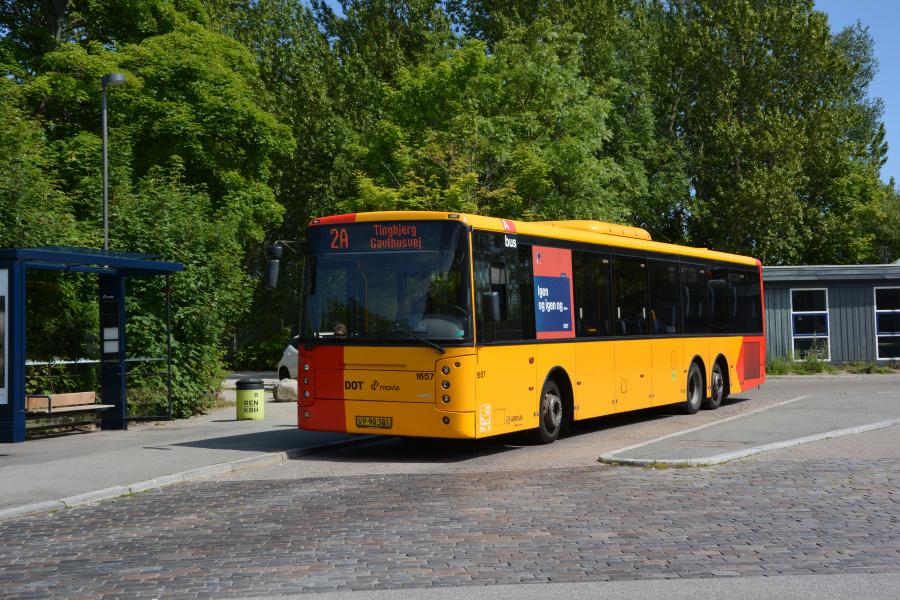 Arriva 1657/VP90301 i Tingbjerg den 19. juli 2017