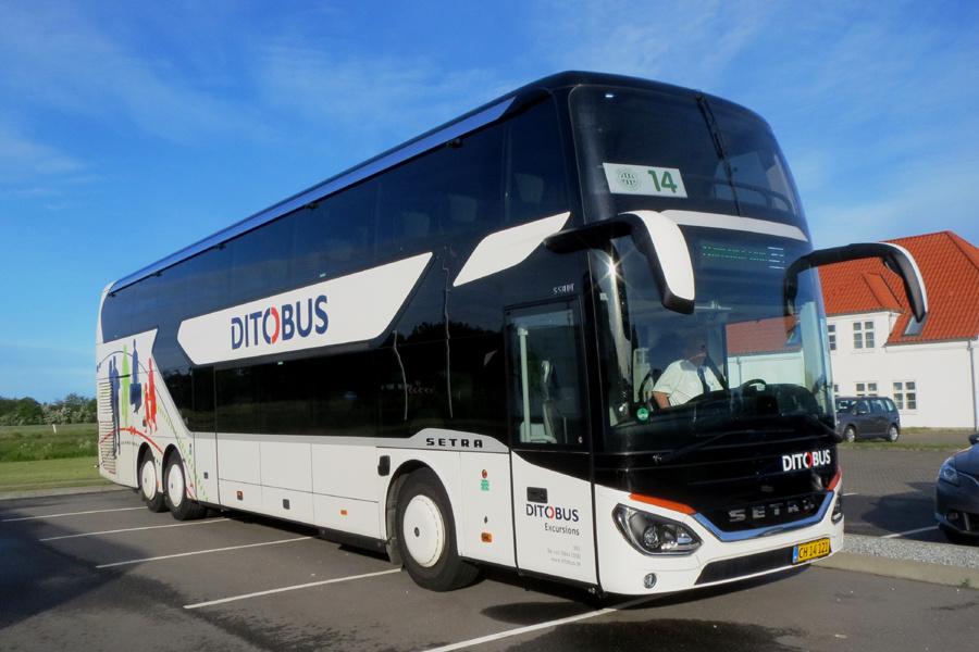Ditobus 394/CH14121 ved Søparken i Aabybro den 31. maj 2019