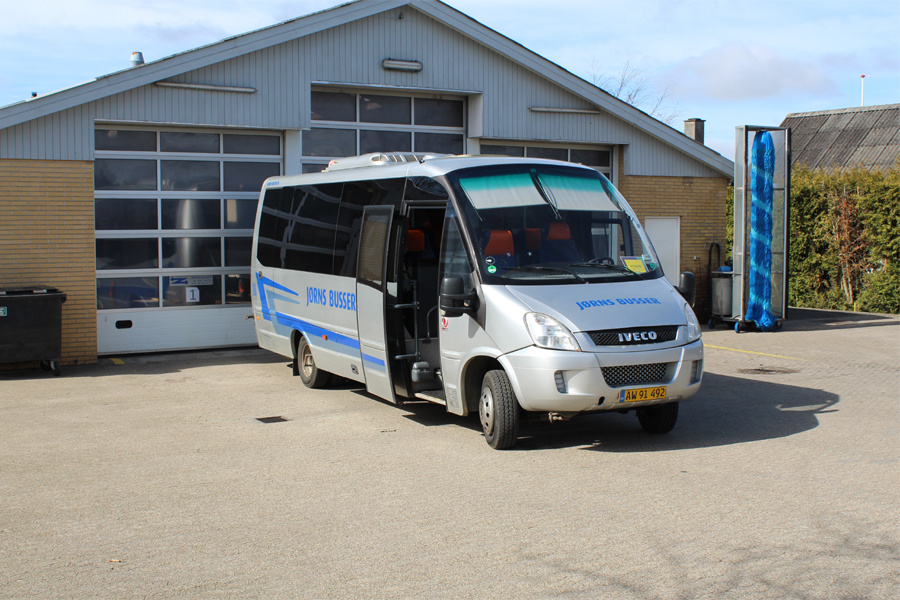 Galten Turistbusser AW91492 på Østergårdsvej i Galten den 28. marts 2019
