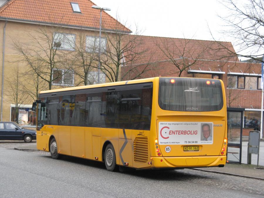 Iversen Busser XD91162 ved Vejen Rtb. den 20. februar 2009