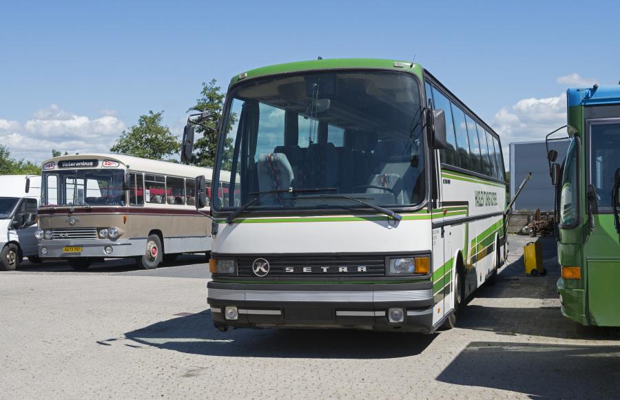 Haslev Turistkørsel ved Danmarks Busmuseum i Skælskør den 22. juni 2019