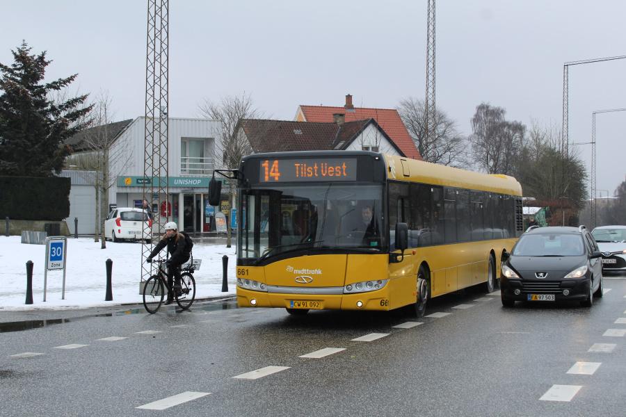 Århus Sporveje 661/CW91092 på Viborgevej ved Hasle Torv i Århus den 18. marts 2018