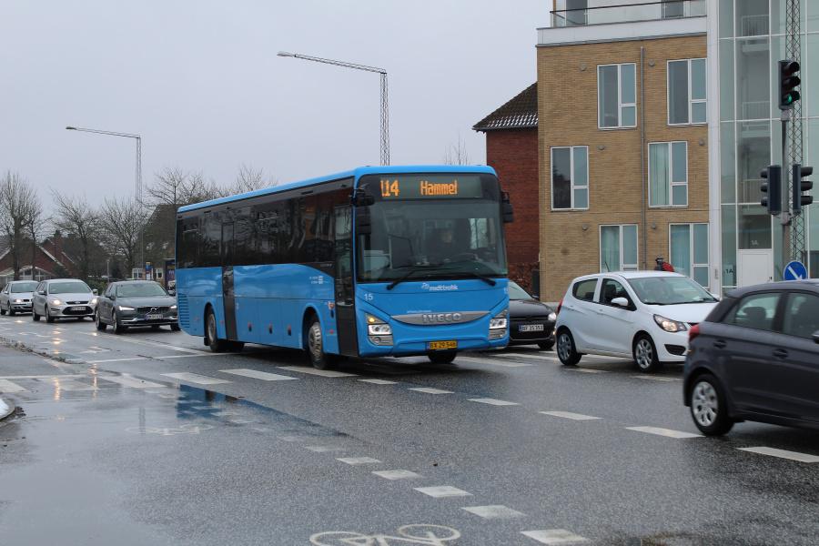 De Grønne Busser 15/BX29546 på Viborgvej ved Hasle Torv i Århus den 8. marts 2018