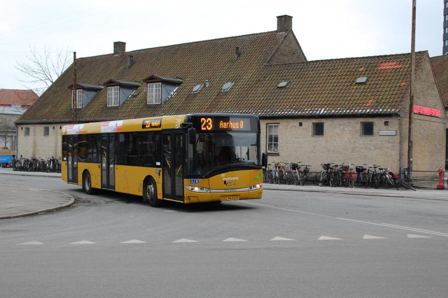 Århus Sporveje 155/XC94527 på Århus Rutebilstation den 4. marts 2018