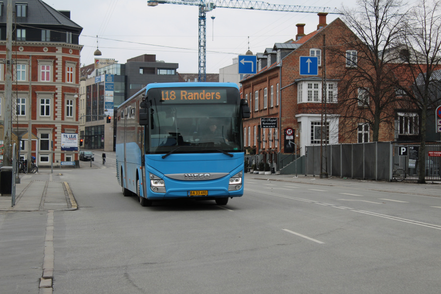De Grønne Busser 7/BA33491 ved Århus Rutebilstation den 4. marts 2018