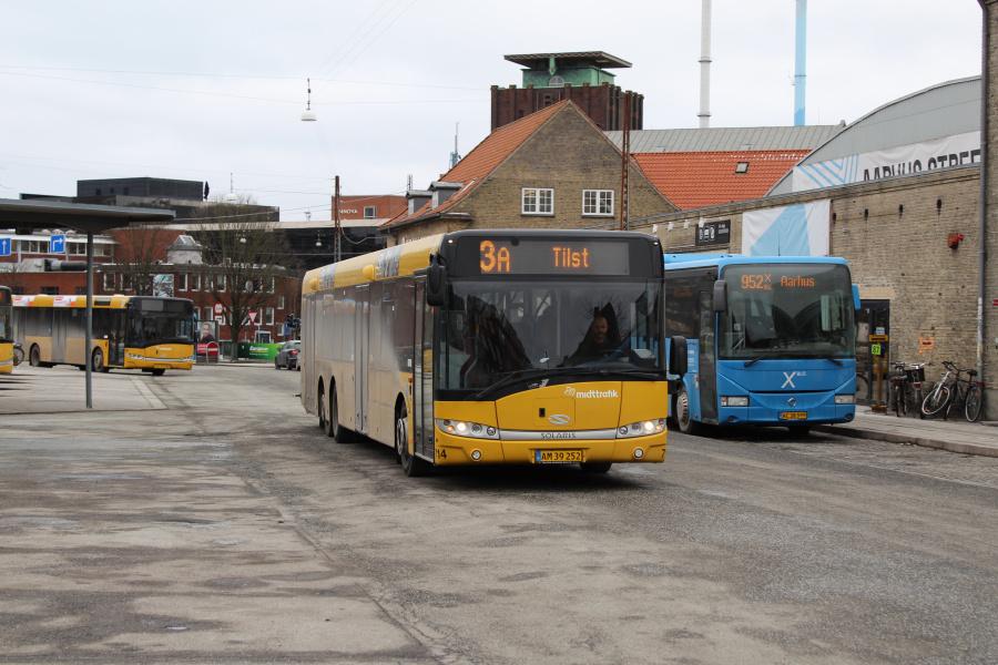 Århus Sporveje 714/AM39252 ved Århus Rutebilstation den 2. marts 2018