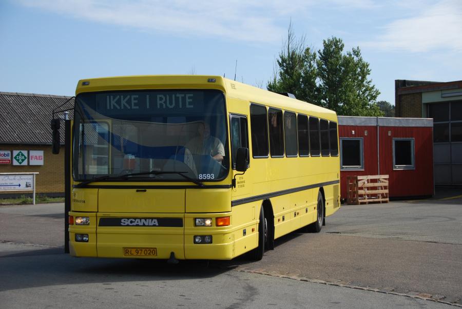 Tide Bus 8593/RL97020 i Sjællandsgade i Vejle den 1. september 2009