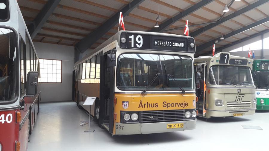 Århus Sporveje 287 på Sporvejsmuseet Skjoldenæsholm i 2018