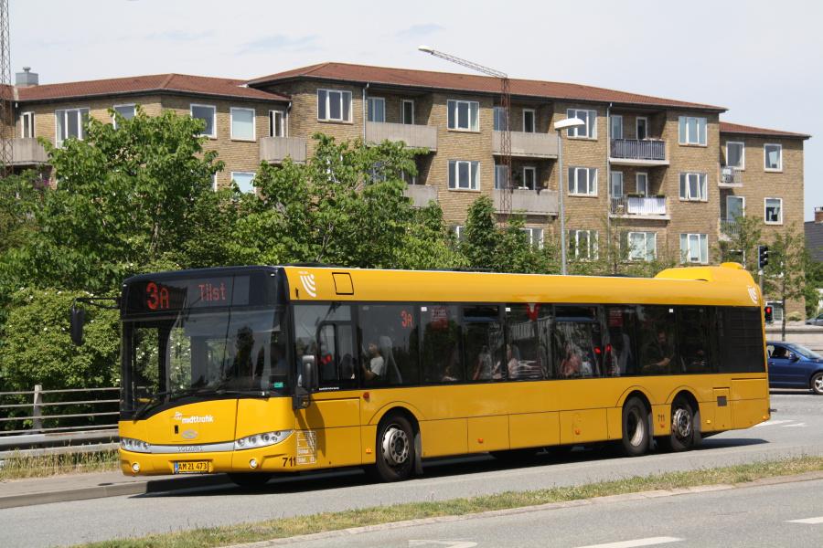 Århus Sporveje 711/AM21473 på Ryhavevej ved Hasle Torv den 25. juni 2019