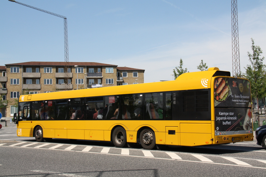 Århus Sporveje 711/AM21473 på Viborgvej ved Hasle Torv den 25. juni 2019