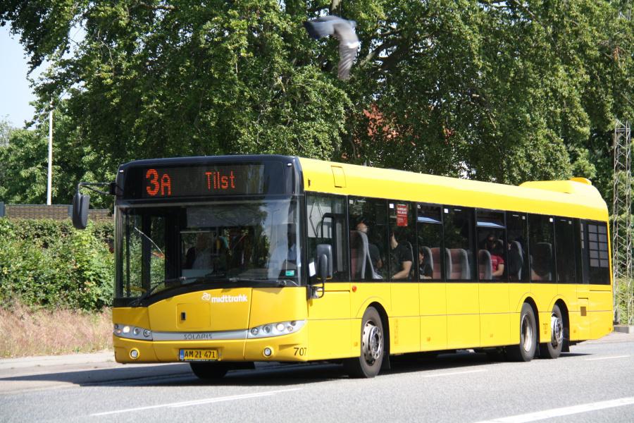 Århus Sporveje 707/AM21471 på Viborgvej i Hasle den 25. juni 2019
