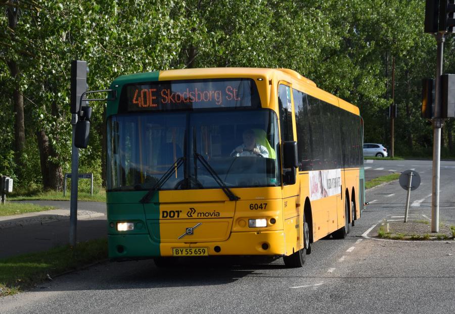 Nobina 6047/BY55659 på Lundtoftegårdsvej i Lyngby den 21. august 2019