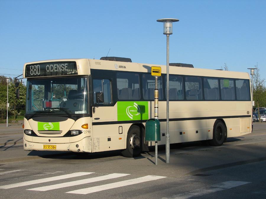 Arriva 2798/RV95384 i Nyborg i 2007