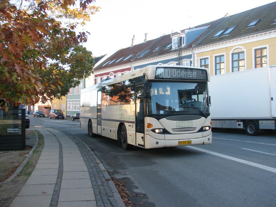Arriva 2801/RV95386 i Rudkøbing i 2006