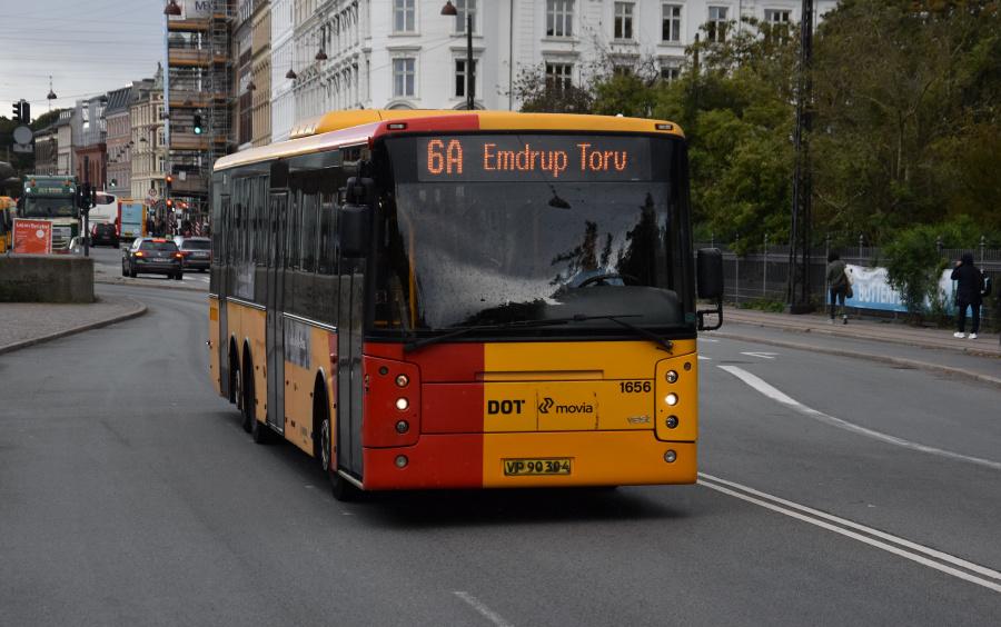 Arriva 1656/VP90304 på Øster Voldgade i København den 17. september 2019