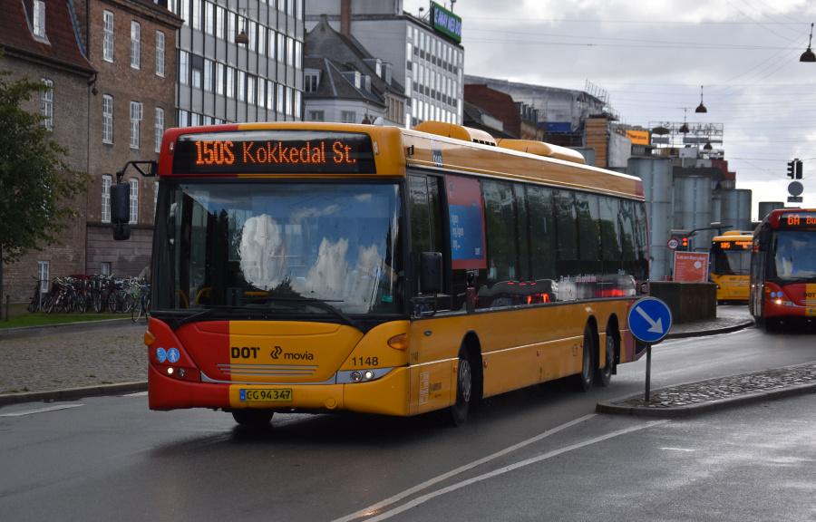 Arriva 1148/CG94347 på Øster Voldgade i København den 18. september 2019