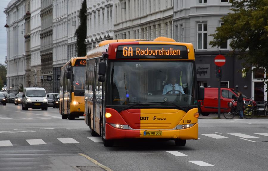 Arriva 1108/BW90008 på Sølvgade i København den 20. september 2019