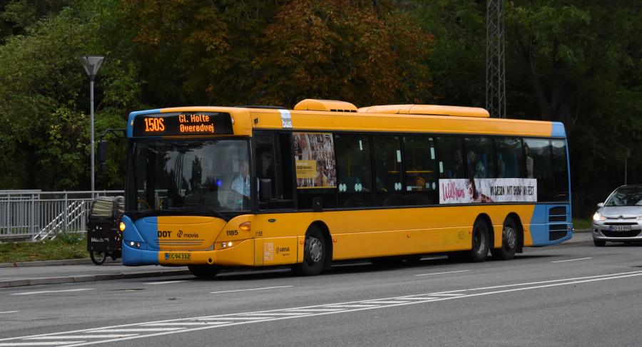 Arriva 1185/CG94312 på Sølvgade i København den 20. september 2019