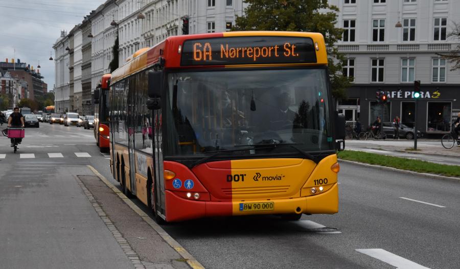 Arriva 1100/BW90000 på Sølvgade i København den 20. september 2019