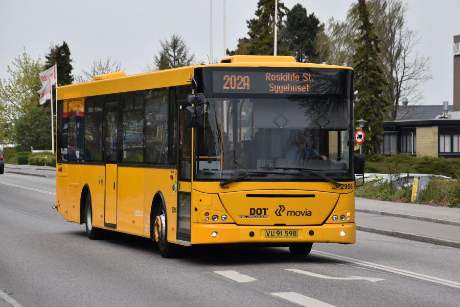 Keolis 2956/VU91598 på Maglegårdsvej i Roskilde den 24. april 2019