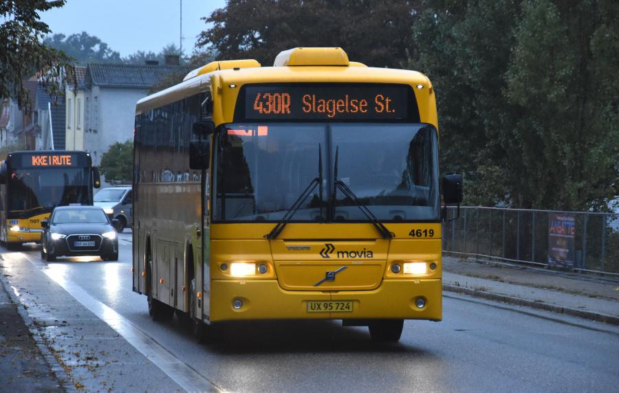 Ditobus 4619/UX95724 ved Slagelse St. den 27. september 2019