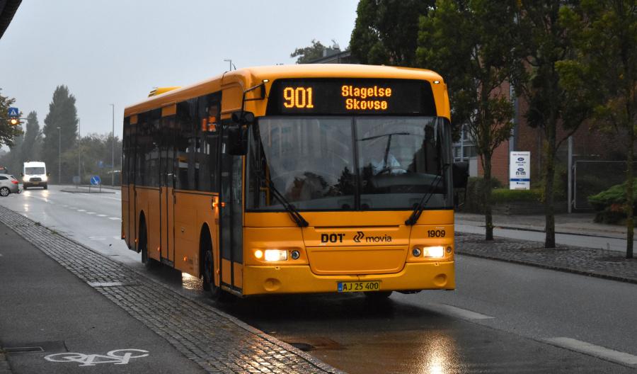 Arriva 1909/AJ25400 ved Slagelse St. den 27. september 2019