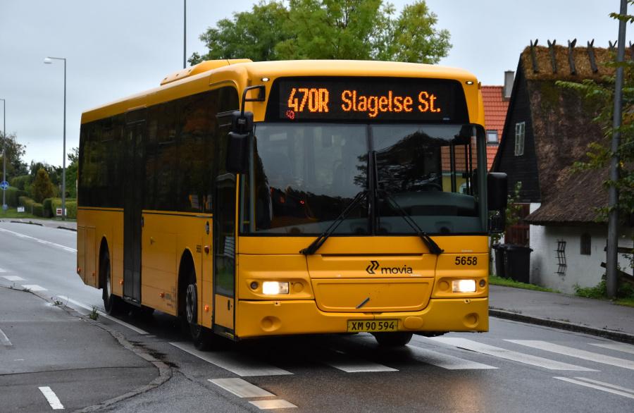 Arriva 5658/XM90594 på Slagelse Landevej i Skælskør den 27. september 2019