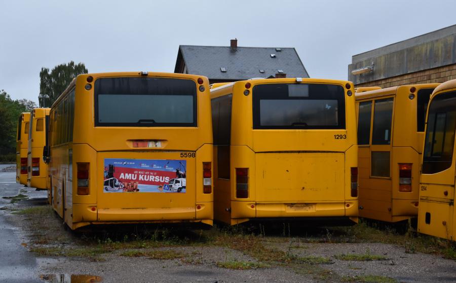 Arriva 5598 og 1293 i Skælskør den 27. september 2019