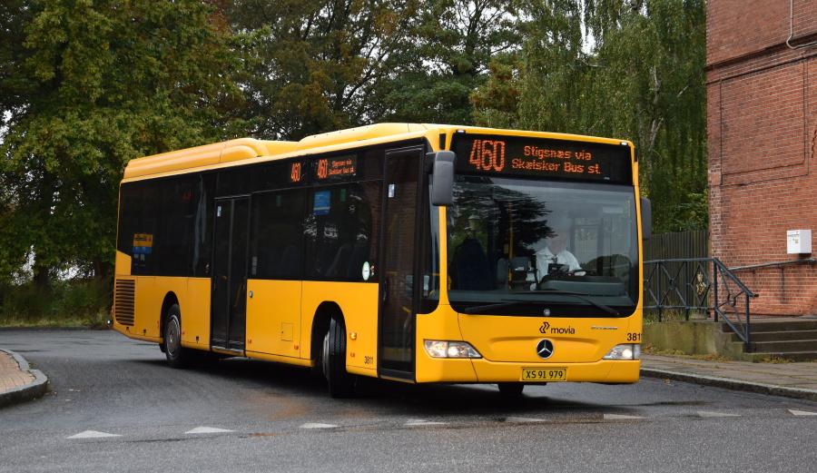 Egons Turist- og Minibusser 3811/XS91979 i Skælskør den 27. september 2019