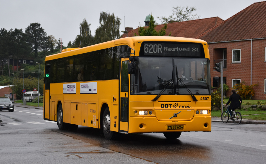 Ditobus 4607/TN93624 på Farimagsgade i Næstved den 27. september 2019