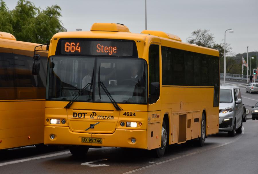 Ditobus 4624/UX95746 på Næstvedvej i Vordingborg den 27. september 2019