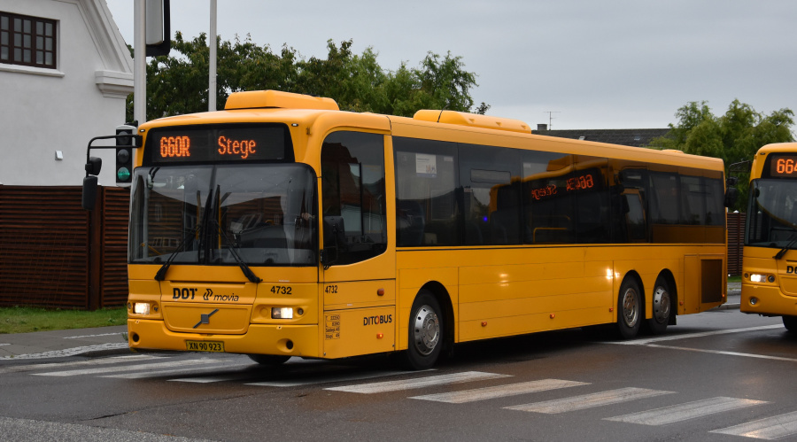Ditobus 4732/XN90923 på Næstvedvej i Vordingborg den 27. september 2019