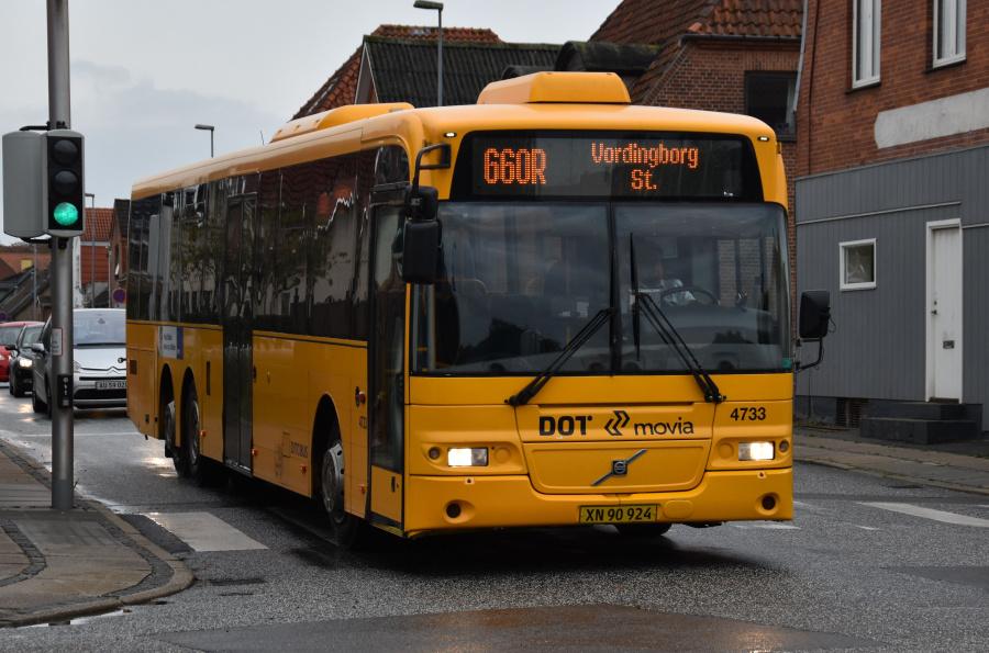 Ditobus 4733/XN90924 på Valdemarsgade i Vordingborg den 27. september 2019