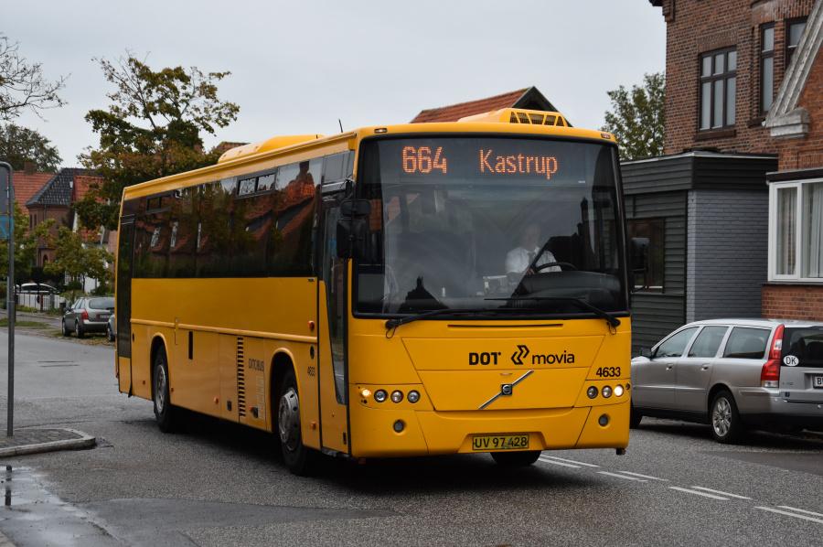 Ditobus 4633/UV97428 på Boulevarden i Vordingborg den 27. september 2019
