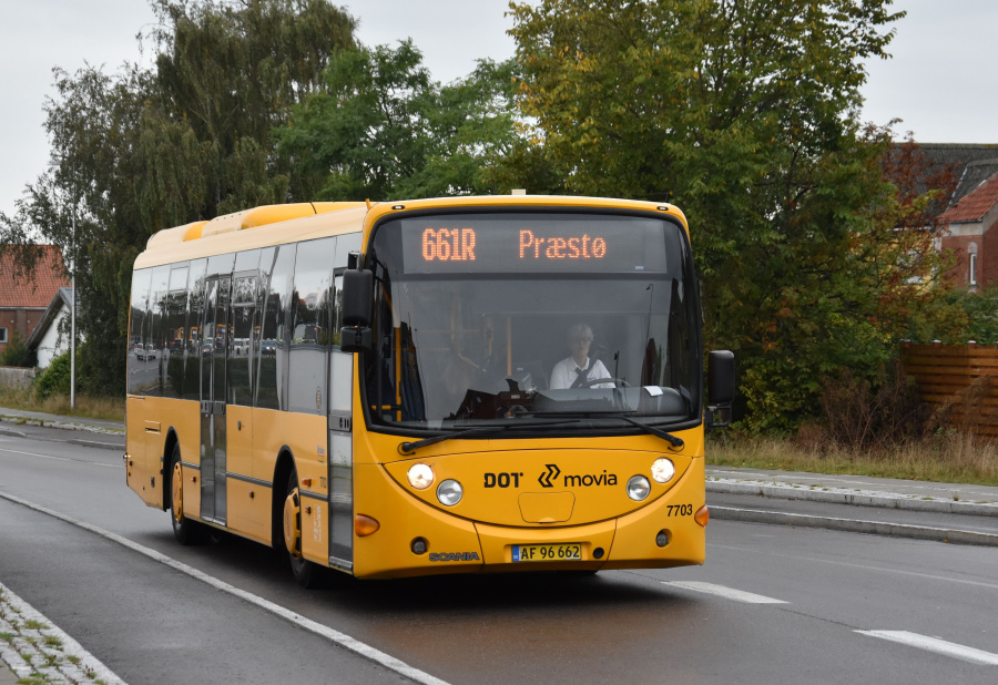 Ørslev Turisttrafik 7703/AF96662 på Næstvedvej i Vordingborg den 27. september 2019