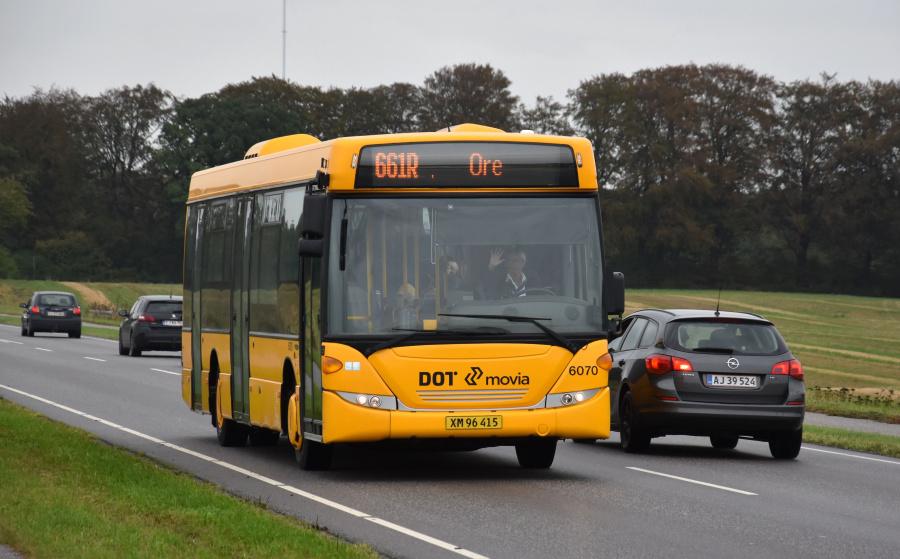 Nobina 6070/XM96415 på Københavnsvej i Vordingborg den 27. september 2019
