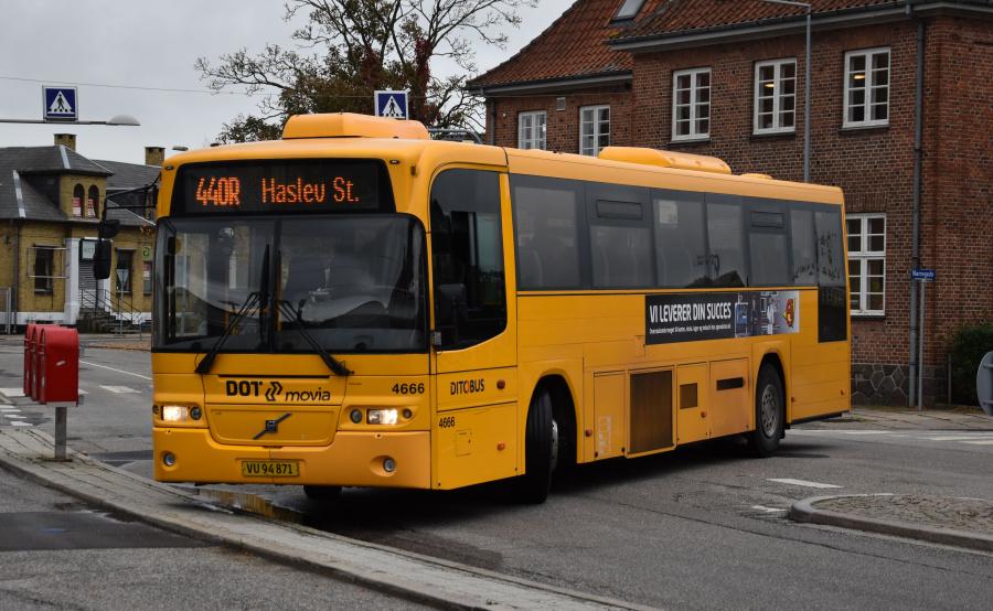 Ditobus 4666/VU94871 ved Haslev St. den 27. september 2019