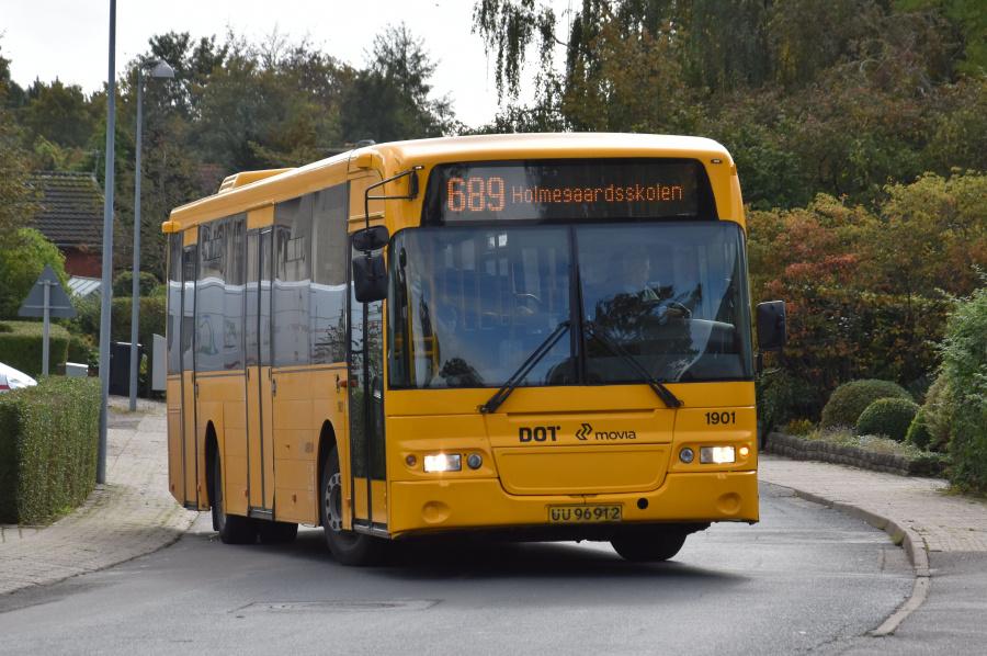 Arriva 1901/UU96912 på Toksværd Bygade i Toksværd den 27. september 2019