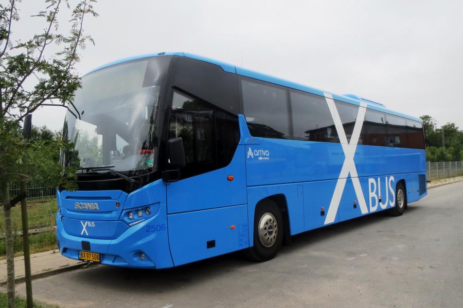 Arriva 2506/BX97508 ved garagen i Thisted den 13. juli 2019
