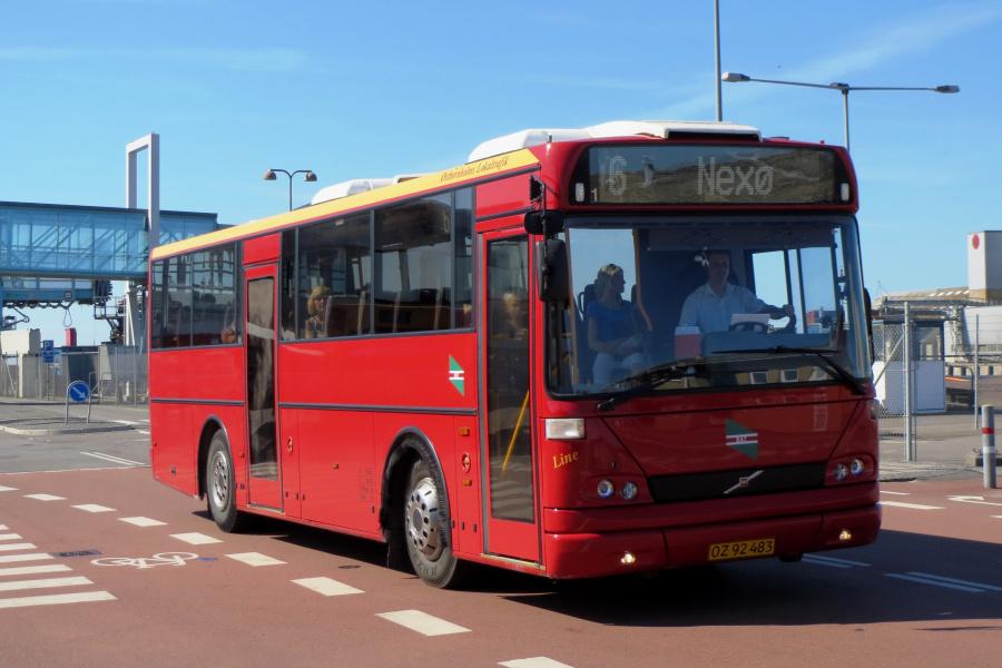 Østbornholms Lokaltrafik OZ92483 i Rønne den 19. juli 2014