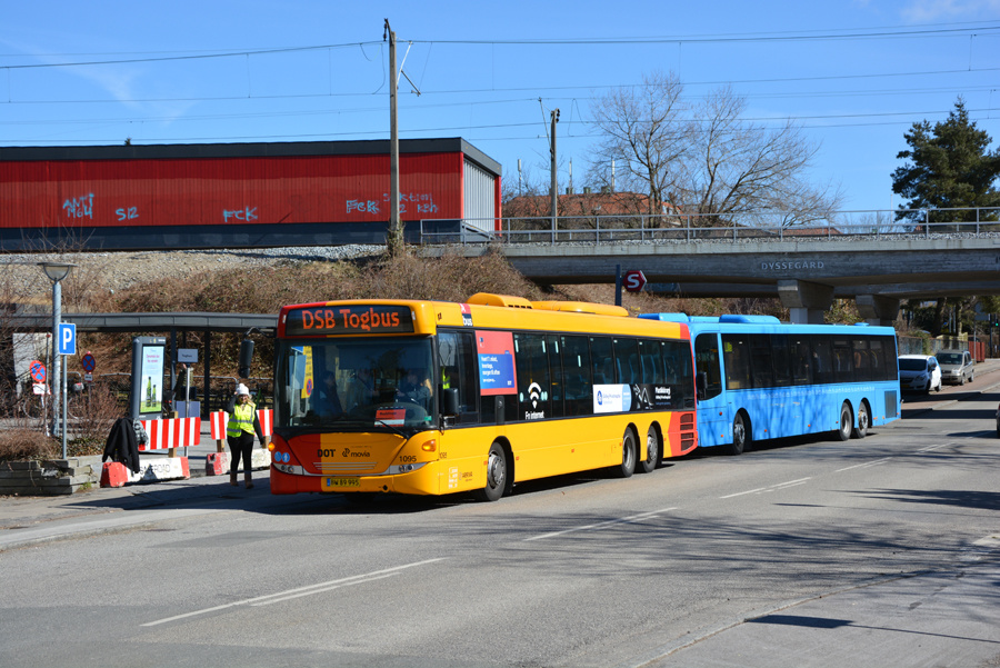 Arriva 1095/BW89995 ved Dyssegård Station den 2. april 2018
