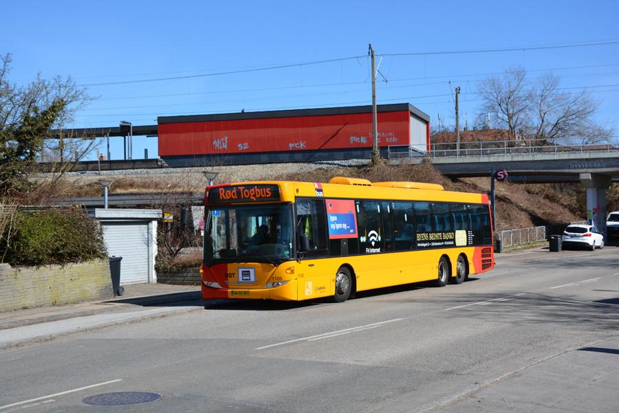 Arriva 1105/BW90005 ved Dyssegård Station den 2. april 2018