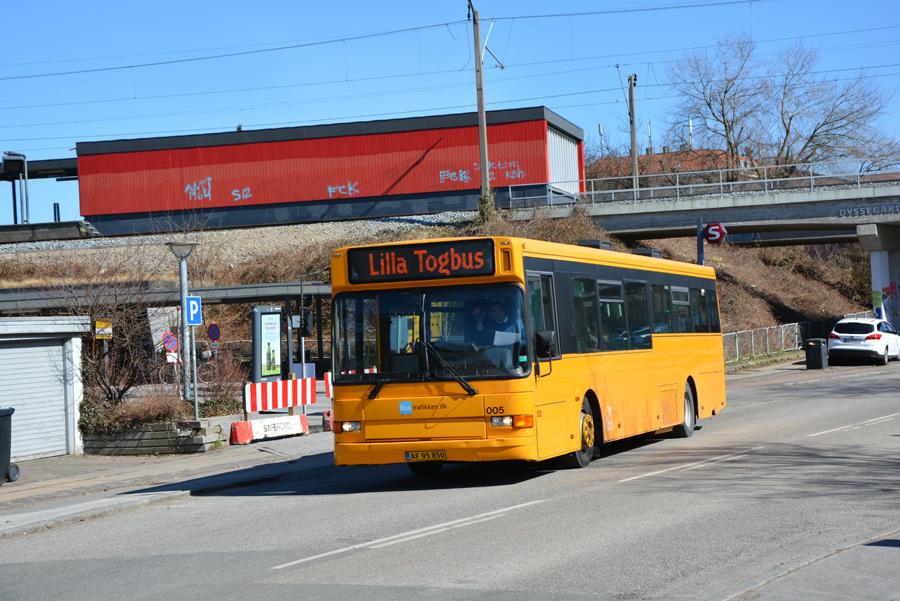 Bustrafikken.dk 005/AF95850 ved Dyssegård Station den 2. april 2018