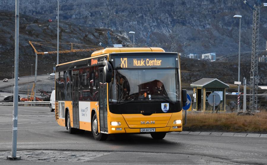 Nuup Bussii 16/GR60579 på Borgmester Anniitap Aqquserna i Nussuaq i Grønland den 24. september 2019