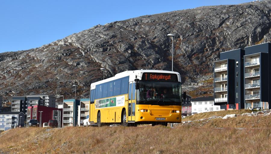 Nuup Bussii 11/GR49467 på Borgmester Anniitap Aqquserna i Qinngorput i Grønland den 24. september 2019