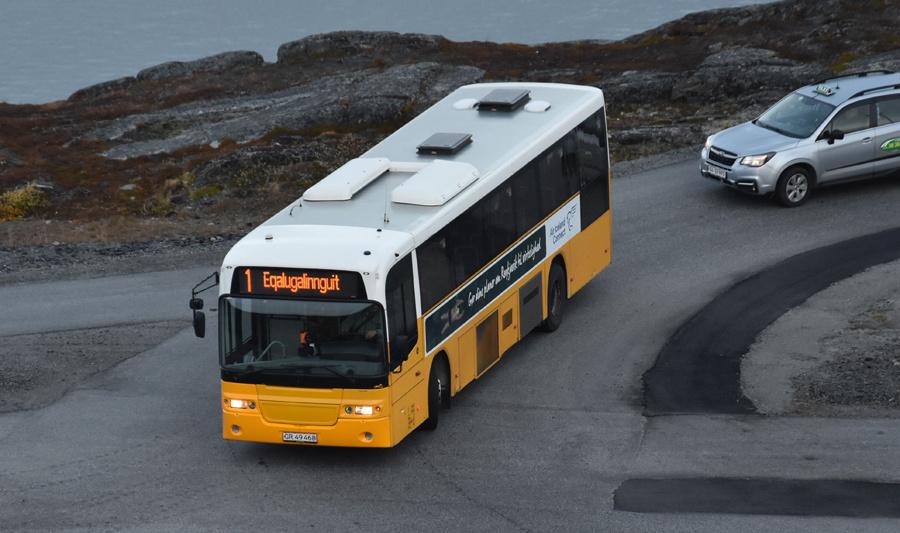 Nuup Bussii 12/GR49468 på Unnaq i Qinngorput i Grønland den 25. september 2019