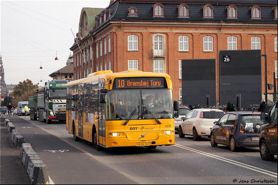 Arriva 1039/XN90762 på Tietgensgade i København den 1. november 2019