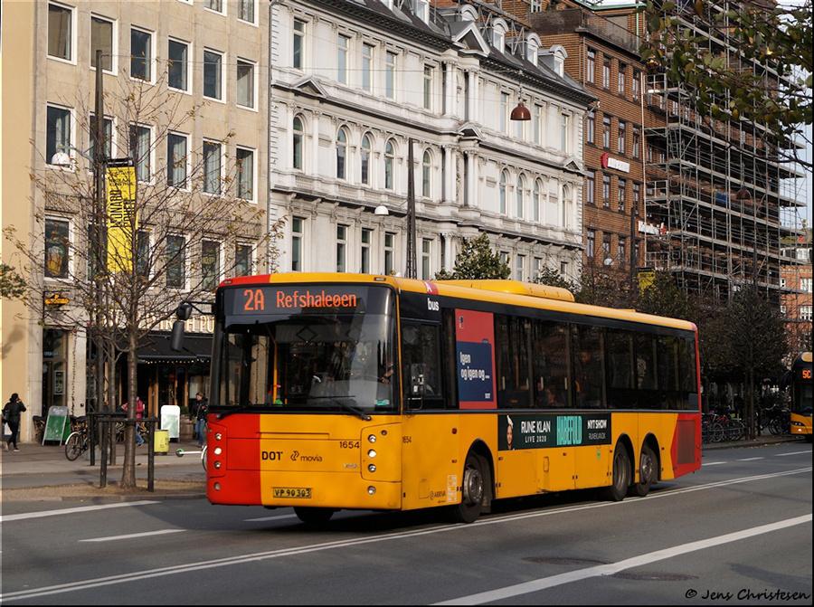 Arriva 1654/VP90303 på Vesterbrogade i København den 1. november 2019
