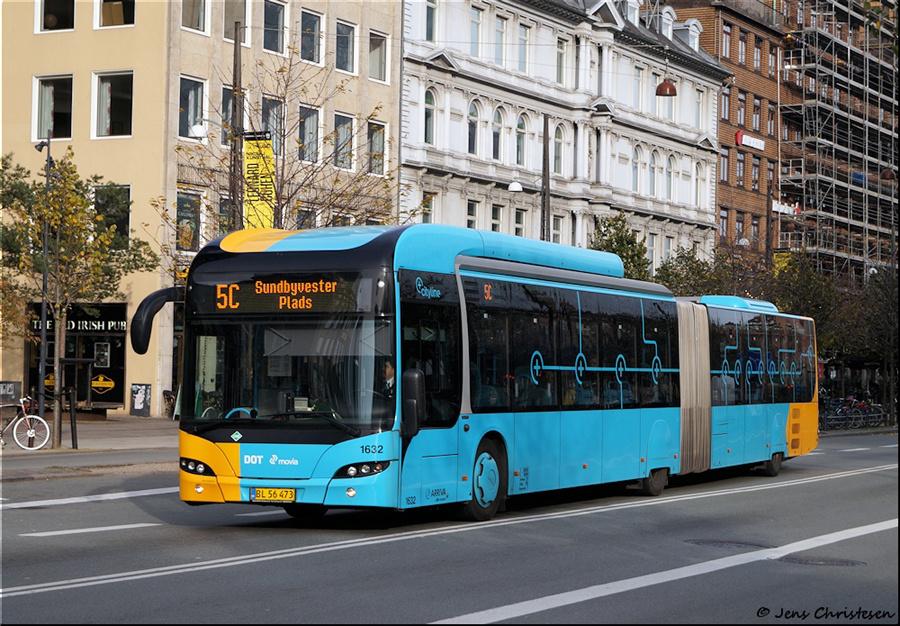 Arriva 1632/BL56473 på Vesterbrogade i København den 1. november 2019